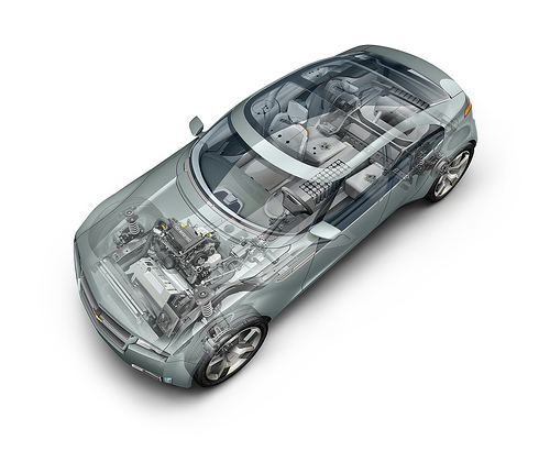 Chevy Volt cutaway picture (Courtesy GM)
