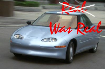 "EV1 - snapshot from ""Who Killed the Electric Car?"" movie"