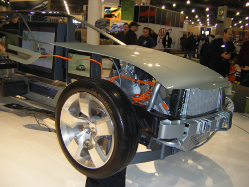 Chevy Volt on Philadelphia Auto Show 2008. Picture copyright Fuelzilla.com